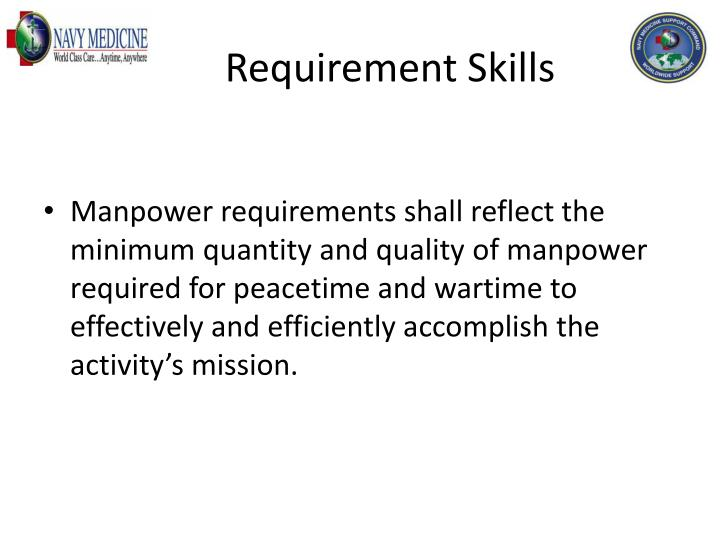 Requirement Skills
