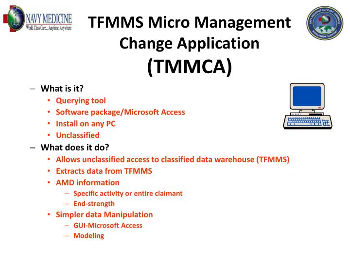 TFMMS Micro Management Change Application