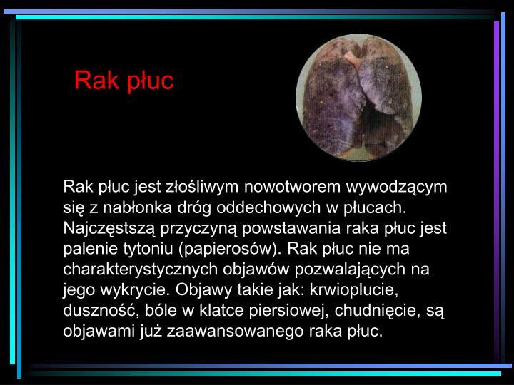 Rak płuc