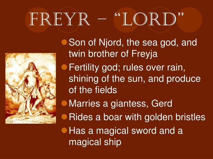 """freyr – """"Lord"""""""