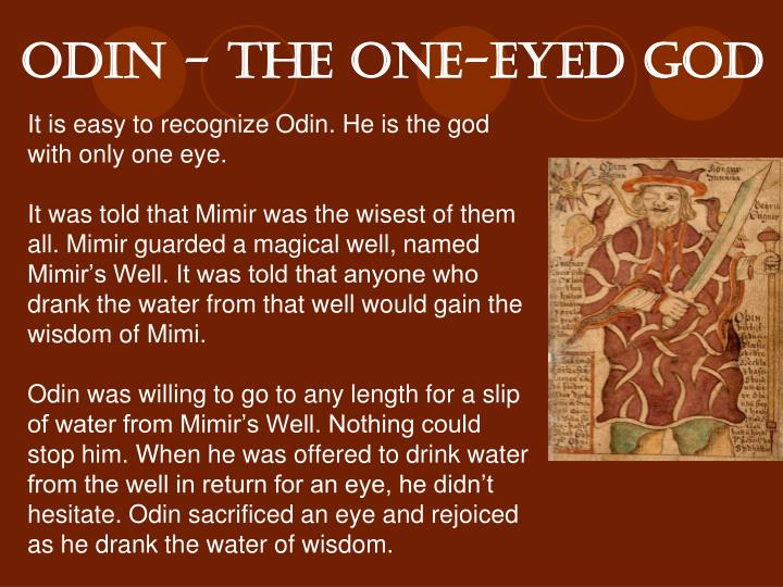 odin - the One-Eyed God