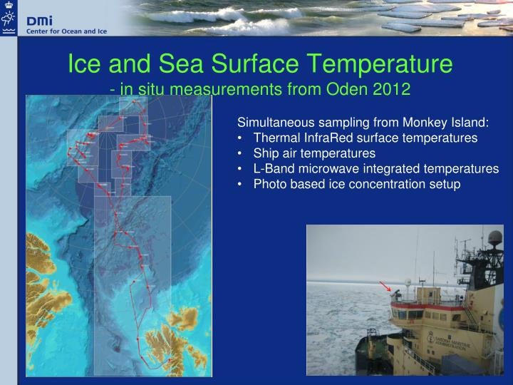 Ice and Sea Surface Temperature