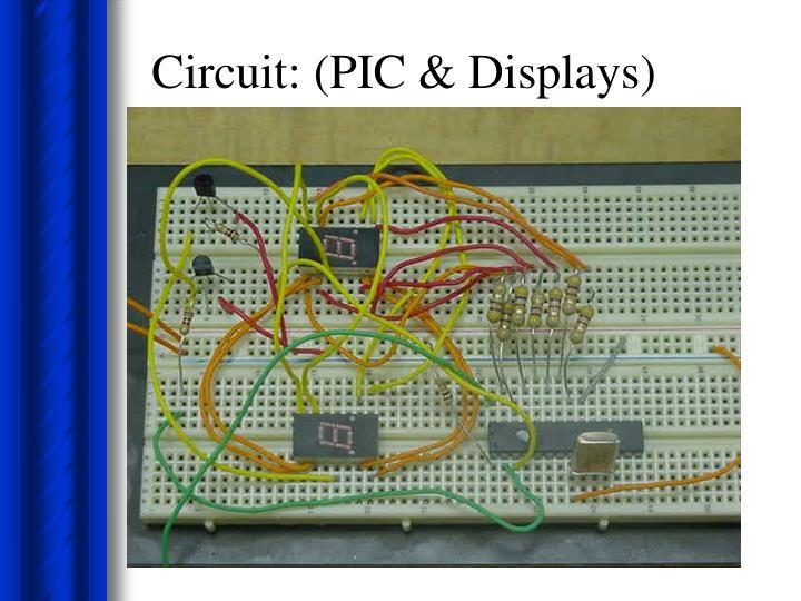 Circuit: (PIC & Displays)