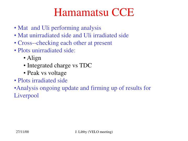 Hamamatsu CCE