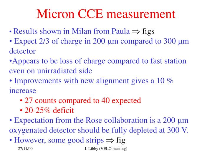 Micron CCE measurement