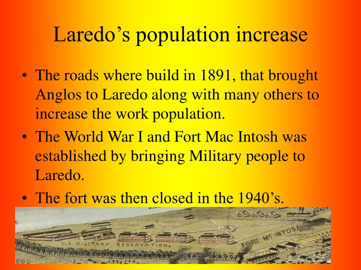 Laredo's population increase