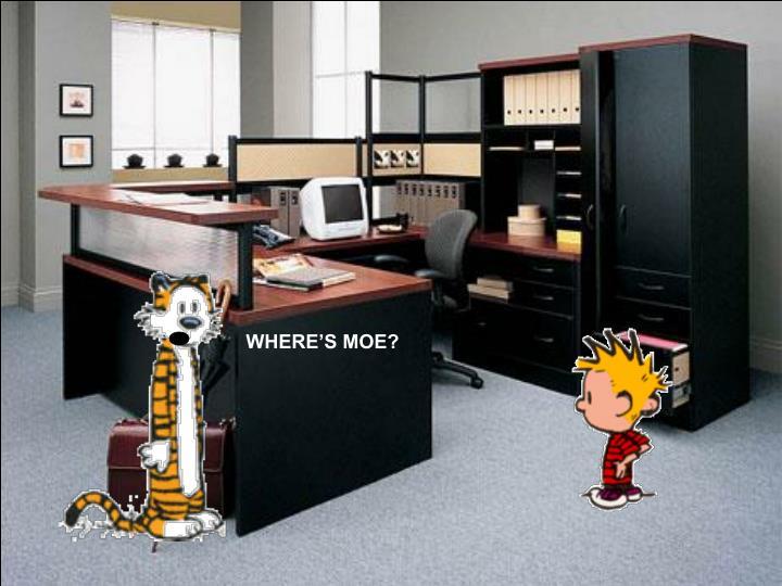WHERE'S MOE?