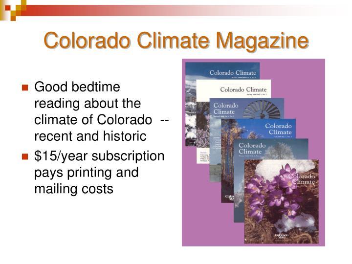 Colorado Climate Magazine