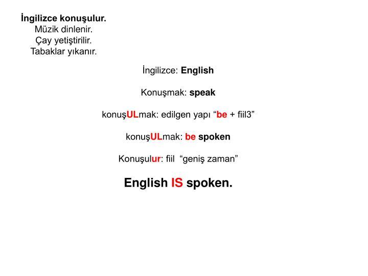 İngilizce konuşulur.