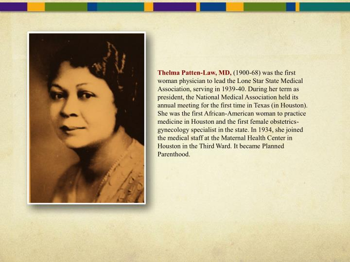 Thelma Patten-Law, MD,