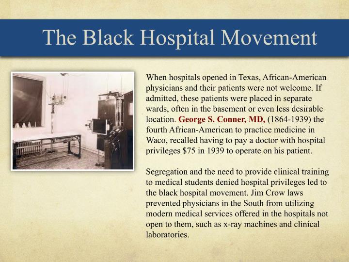 The Black Hospital Movement