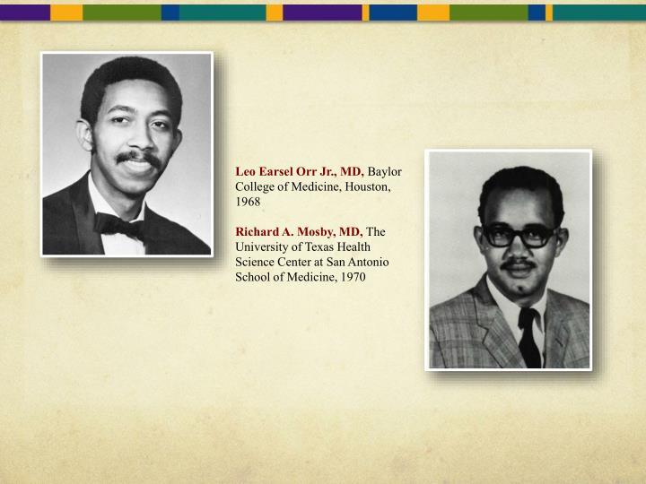 Leo Earsel Orr Jr., MD,