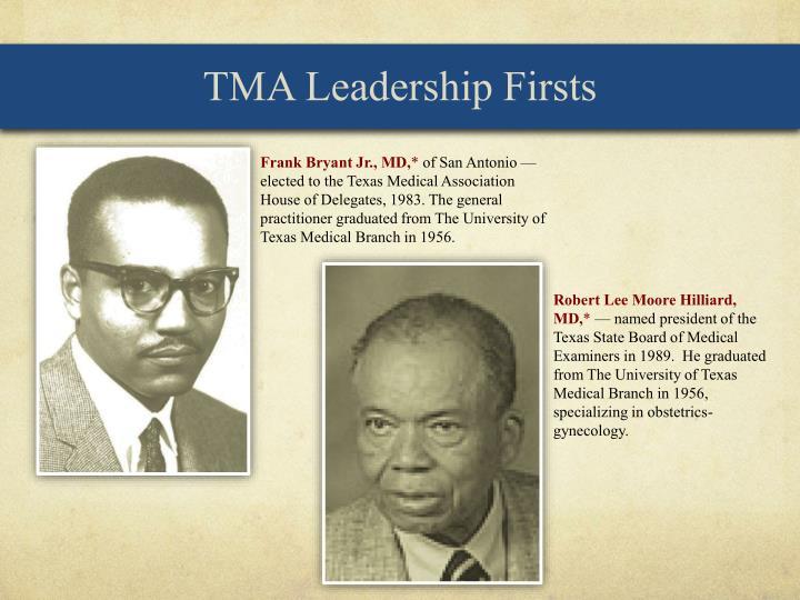 TMA Leadership Firsts