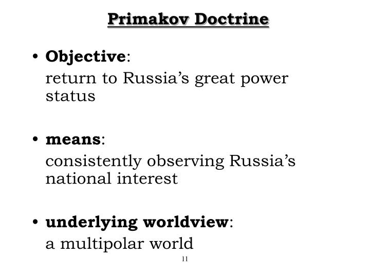 Primakov Doctrine
