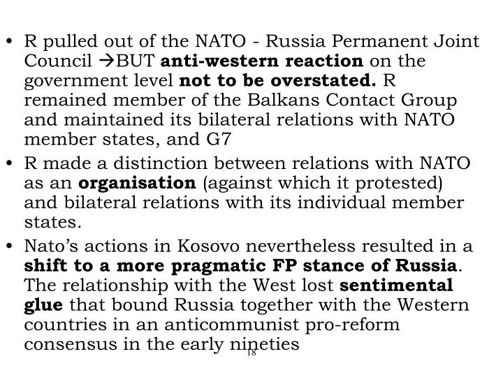R pulled out of the NATO - Russia Permanent Joint Council