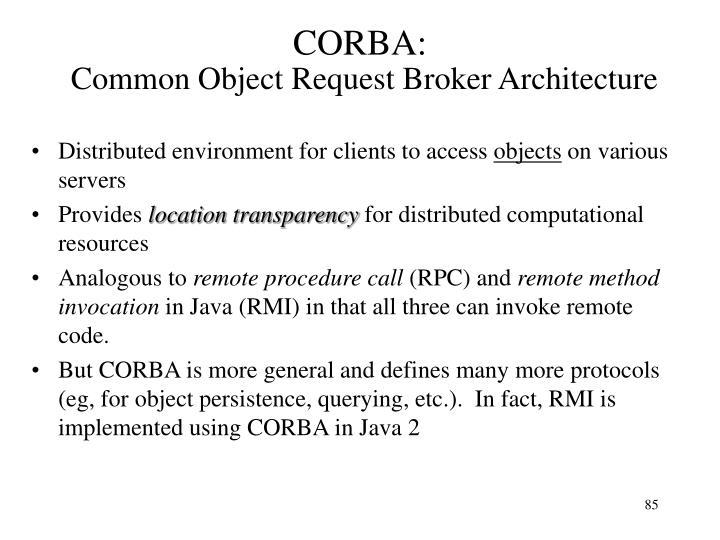 CORBA: