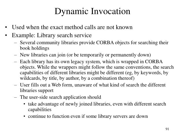 Dynamic Invocation