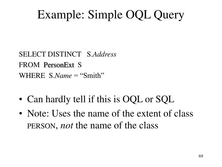 Example: Simple OQL Query