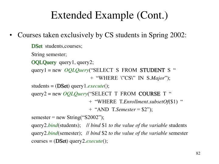 Extended Example (Cont.)