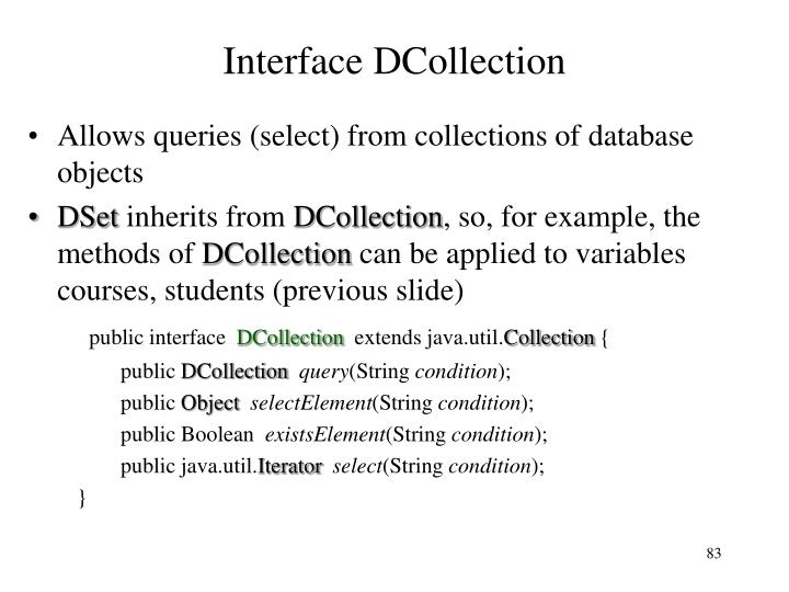 Interface DCollection