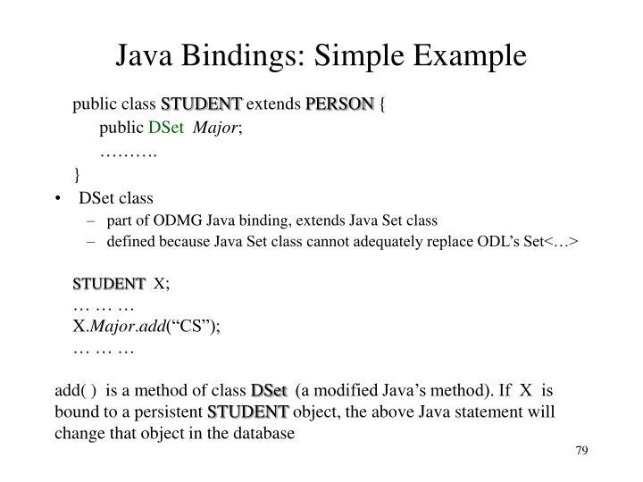 Java Bindings: Simple Example