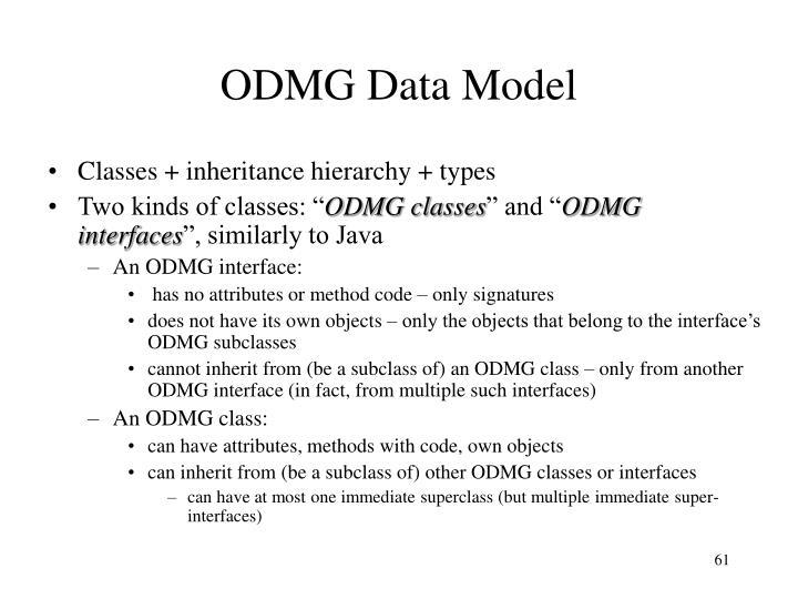 ODMG Data Model