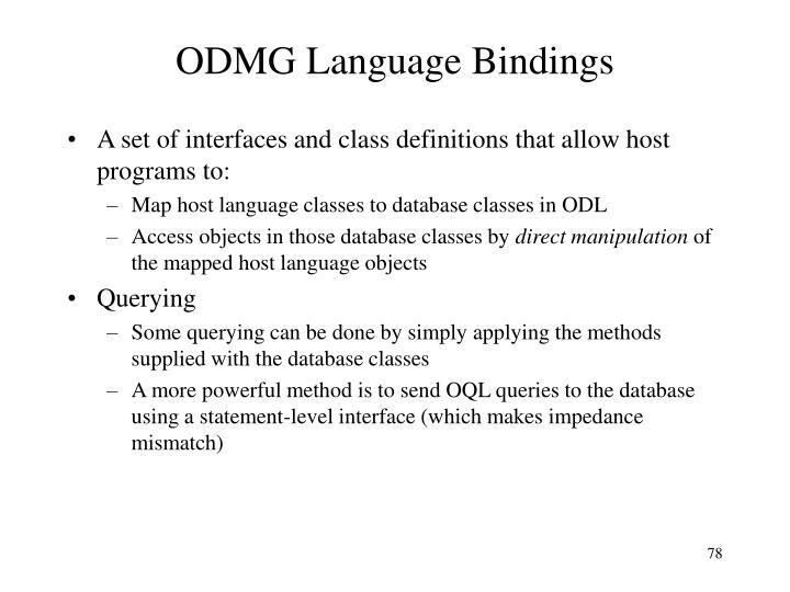 ODMG Language Bindings