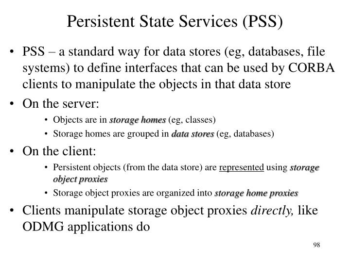 Persistent State Services (PSS)