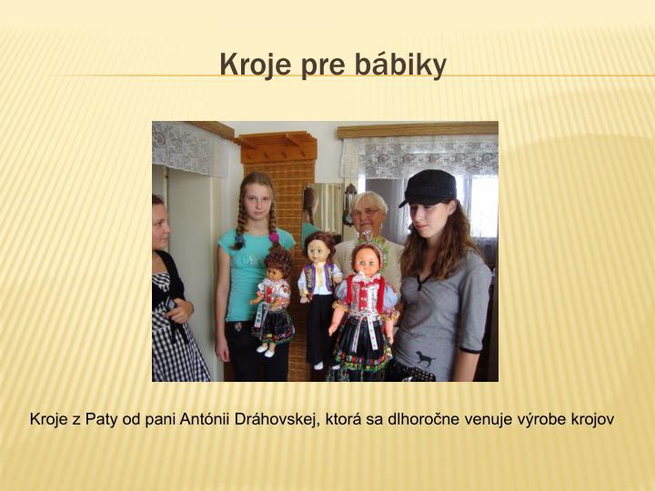 Kroje pre bábiky