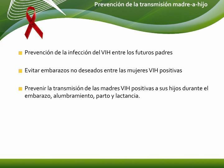 Prevención de la transmisión madre-a-hijo