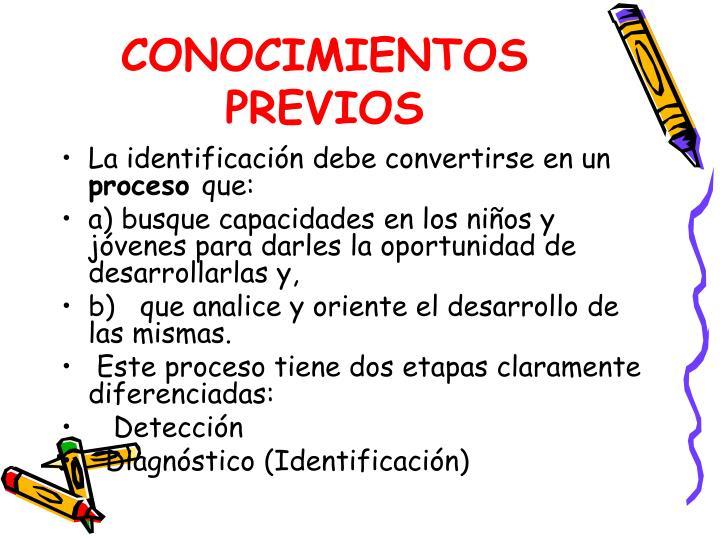 CONOCIMIENTOS PREVIOS