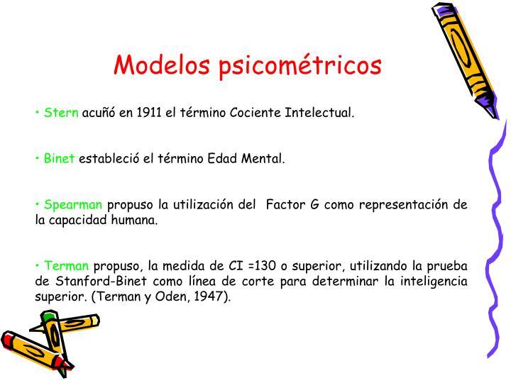 Modelos psicométricos