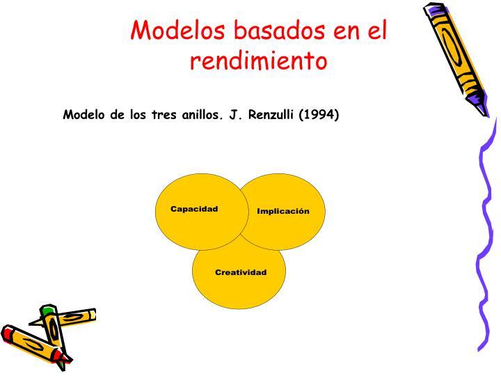 Modelos basados en el rendimiento