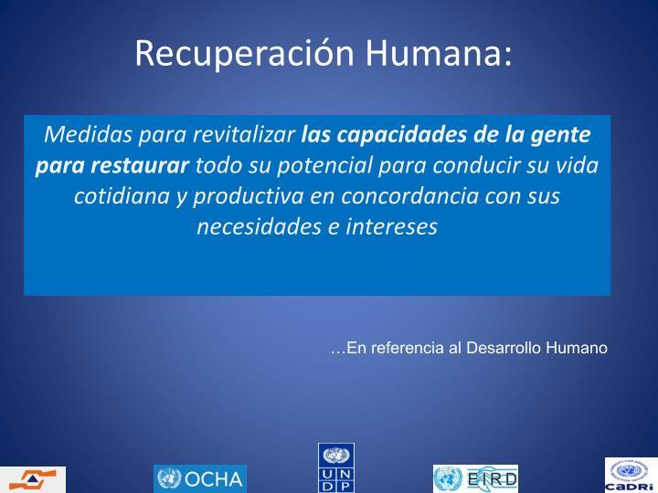 Recuperación Humana: