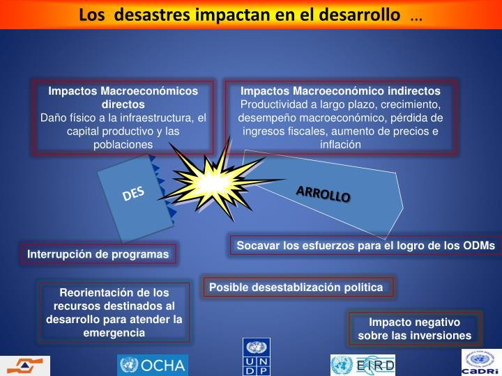 Los  desastres impactan en el desarrollo