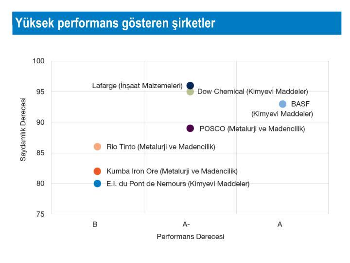 Yüksek performans gösteren şirketler