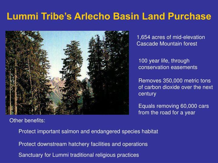 Lummi Tribe's Arlecho Basin Land Purchase