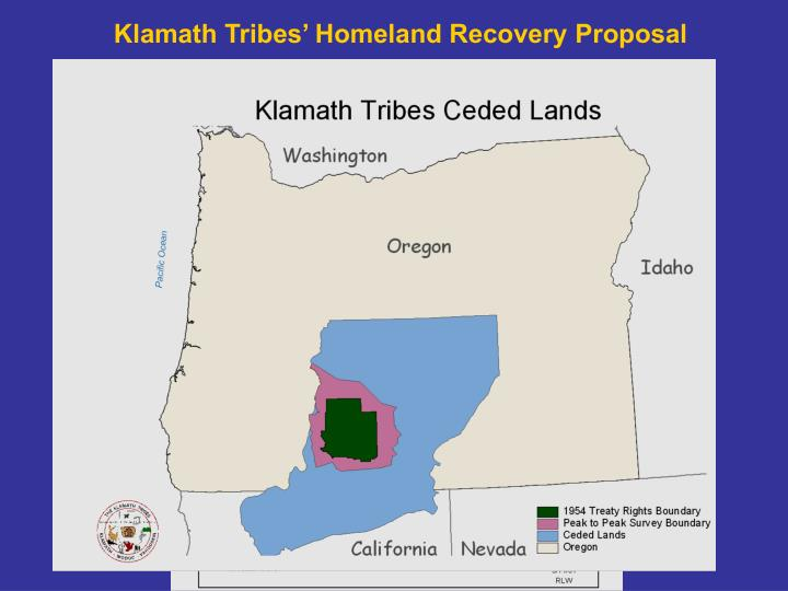 Klamath Tribes' Homeland Recovery Proposal