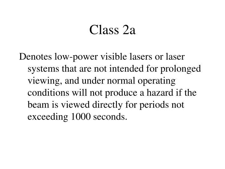 Class 2a