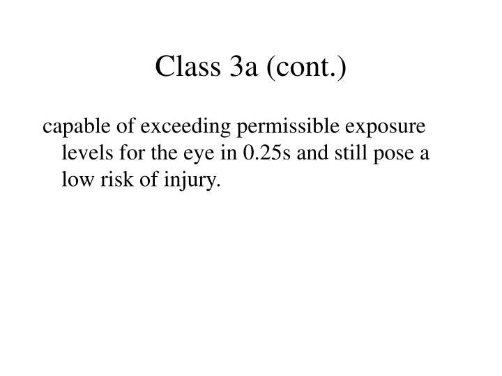 Class 3a (cont.)