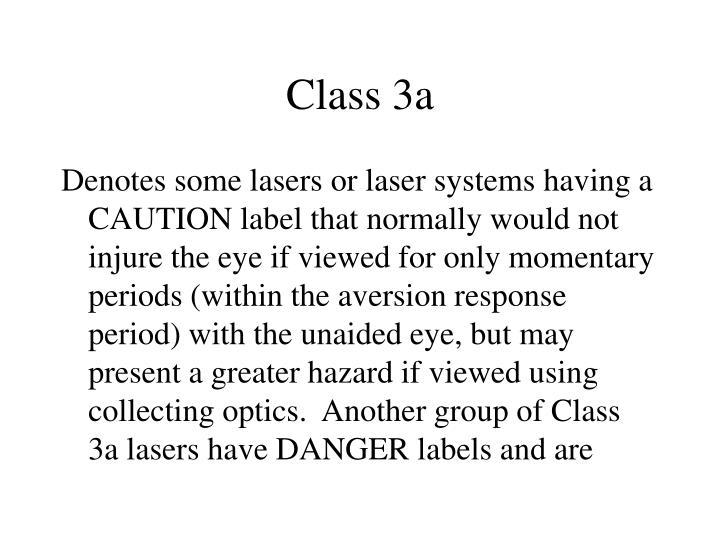 Class 3a