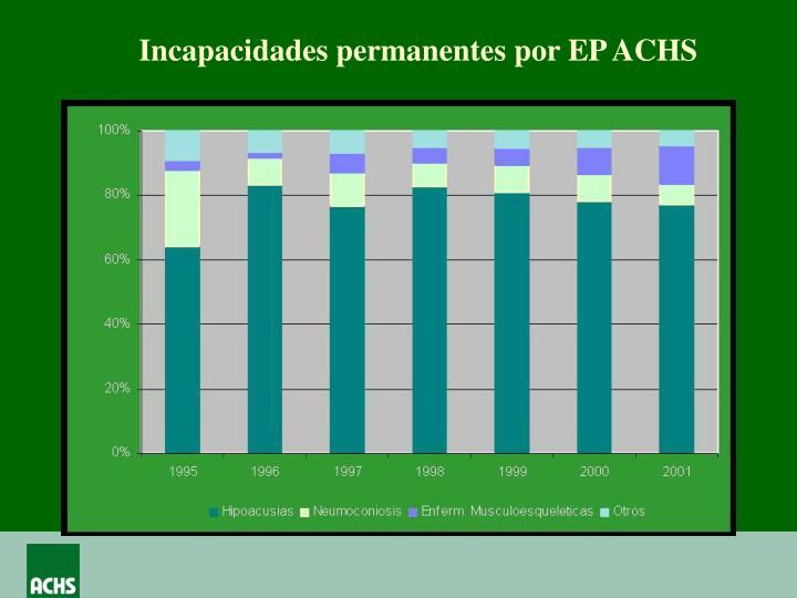 Incapacidades permanentes por EP ACHS