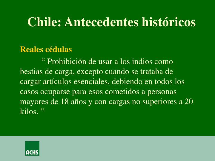 Chile: Antecedentes históricos