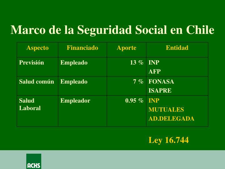 Marco de la Seguridad Social en Chile