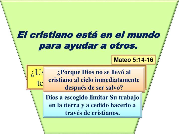 El cristiano está en el mundo