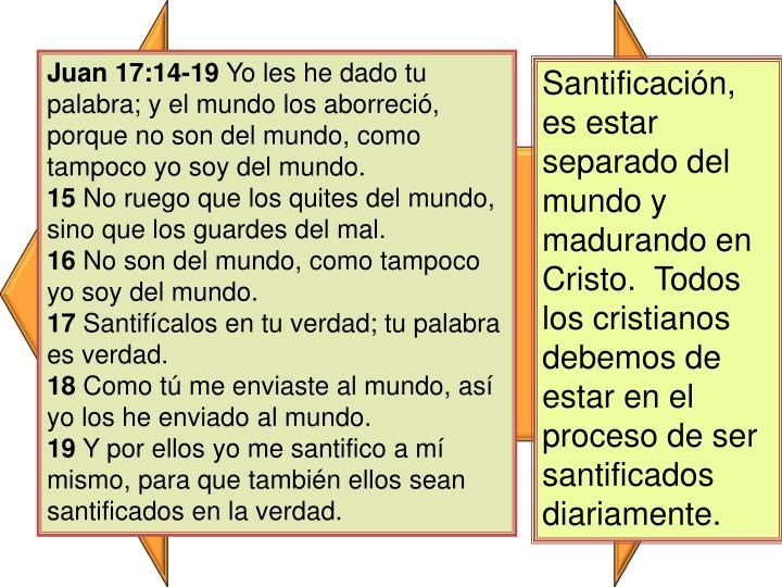 Juan 17:14-19
