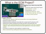 what is the ecm project