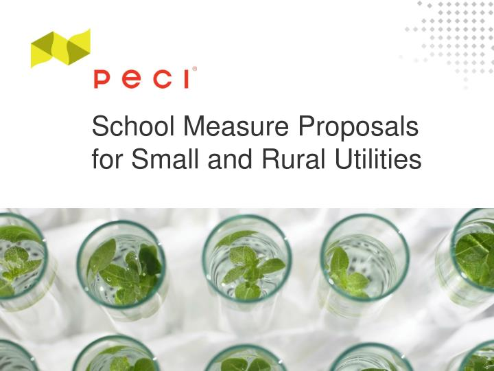 School measure proposals for small and rural utilities