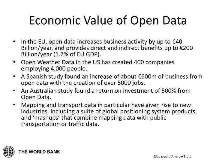 Economic Value of Open Data