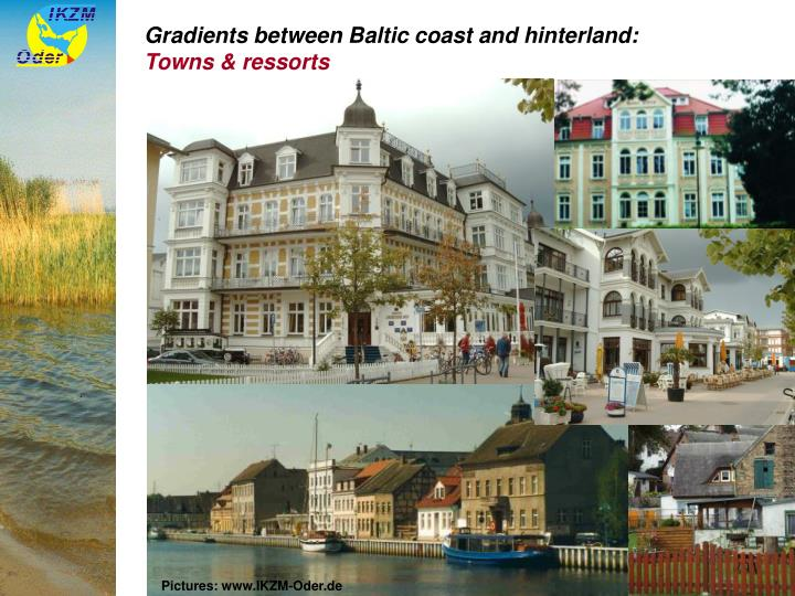 Gradients between Baltic coast and hinterland: